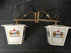 Lot of 2 bar lanterns - KARLSBRAEU beer