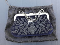 Gucci - New mini-bag / evening borsa clutch in embroidered velvet