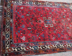 Old hand-knotted rug, mid 20th century.