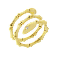 "Chimento –  ""Bamboo Navette"" 18 kt yellow gold women's ring – ring size 57 (17)"