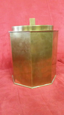 Brass branded ice bucket