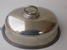 Antique English silver plated food cover John Marston