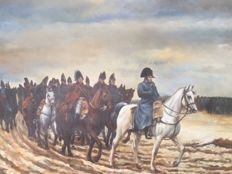 Oil painting on canvas Napoleon with La Grande Armee