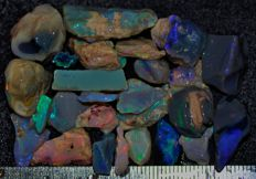 Rough Black Opal Lightning Ridge - 100 ct