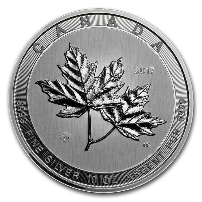 Canada - 50 Dollar 2017 Maple Leaf Magnificent - 10 oz   - Argent