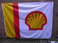 Large original Shell flag - nylon - 200 x 150 cm - Branded Wollux