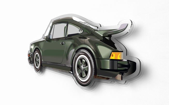 Halmo Collection Porsche 911 930 Turbo 3.0 plexiglass model