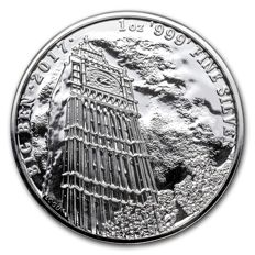Great Britain - 2 pounds - Royal Mint - Big Ben - 999 silver - Landmarks of Britain