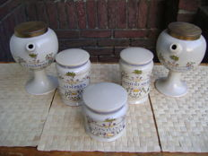 Set of 5 apothecary jars