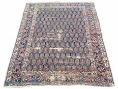 100 YEARS OLD Approximately ! Persian Malayar Hand Knotted Area Carpet Rug 153 cm x 119 cm