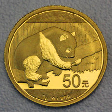 China - 50 Yuan 2016 China Panda - 999 gold coin