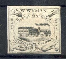 USA 1844 - Boston To New York local, Wyman Private Carrier