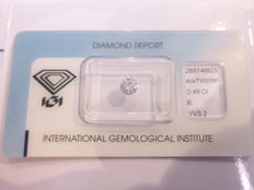 0.49 ct brilliant cut diamond E VVS2