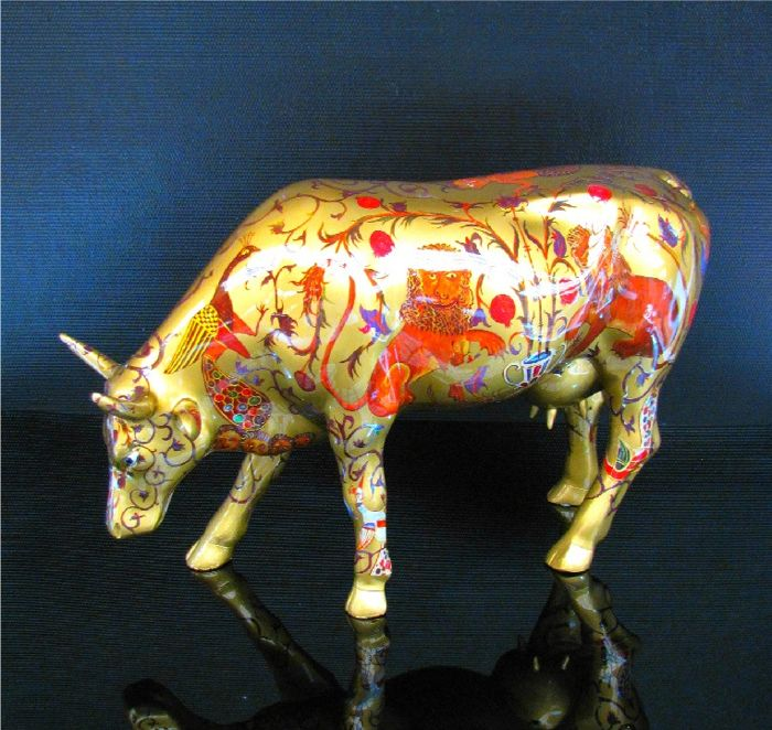 CowParade - Cow The Golden Byzantine Large Retired !
