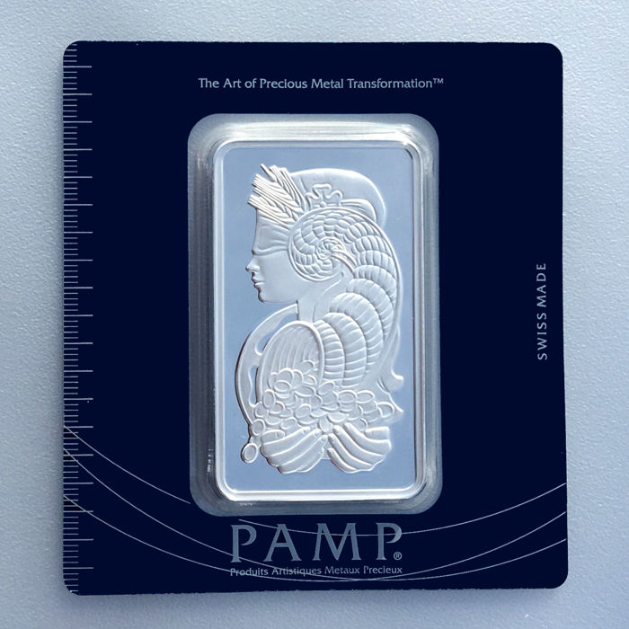 Pamp Suisse Fortuna 100 g 999 silver / silver bar in blister with certificate and serial number