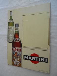 Menu holder: MARTINI the aperitif - Painted sheet metal - 1950