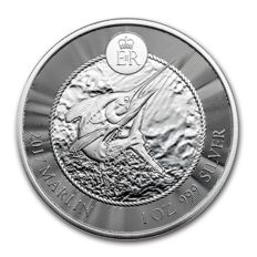 Cayman Islands - 1 dollar - marlin / swordfish 2017 - 1 oz 999 silver / silver coin