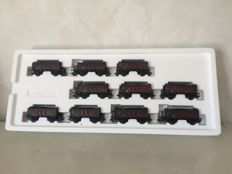 Märklin H0 - 46030 - 10-piece Coal carriage set of the early DB