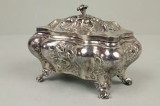 Silver sugar bowl with a key - Neorococo - Lars Larson & What Goteborg - 1848.