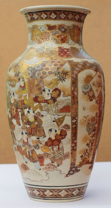 Satsuma Vase With Karako Chinese Children At Play Japan Late 19th Century Meiji Period