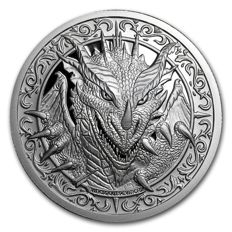 USA - 2 oz silver round - Destiny Knight - the Dragon (Scottish Knight) 999 silver edition of only 10,000 pieces