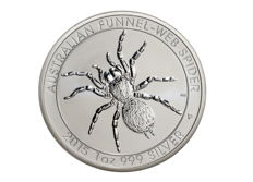 Australia - Perth Mint 1 dollar - Funnel Web Spider 2015 - 999 silver coin
