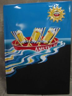 Tin advertising sign Amstel Beer Pilsner - 1980
