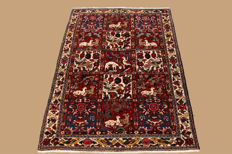 Hand-knotted Persian carpet, Bachtyjar, approx. 160 x 108 cm