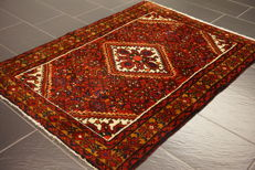 Antique, high-quality hand-knotted Persian carpet, Hamadan, made in Iran, natural dyes, 11 x 150 cm, old rug