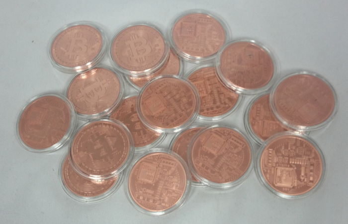 20 x 1 oz 999 copper, copper coins, Bitcoin
