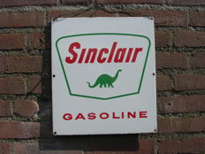 Enamel sign - Sinclair gasoline - 34x31 cm - 1950s - USA