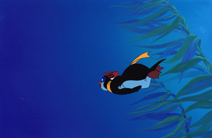 Fokkens, Erik - Original Preliminary Background + Test cel - The Pebble and the Penguin (1993/1994)
