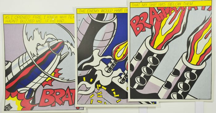 Roy Lichtenstein - As I opened fire - Triptych