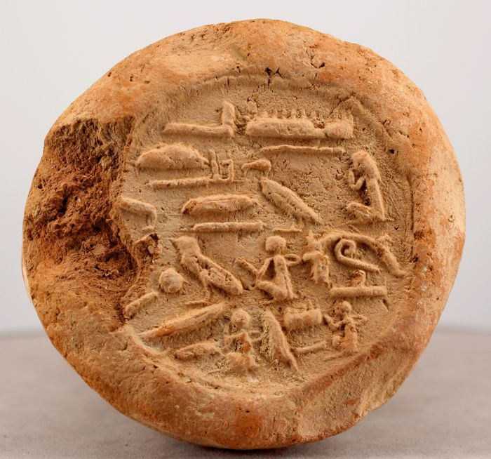Very fine Funerary Cone for overseer of the seal Amunhotep - Ø ca. 8,5cm x 18,5cm - c. for sale