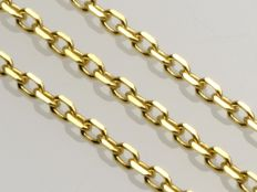 18k Gold Necklace. Chain Anchor. Length 50 cm.