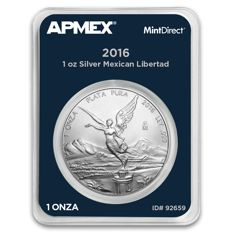 Mexico - 1 piece 999 oz silver coin MintDirect certified quality + Mexico Libertad - Goddess of Victory