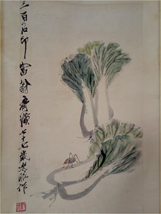 Hand painted scroll made after Qi Baishi - China - 2nd half 20th century