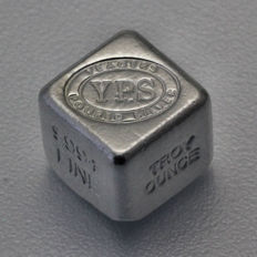 USA - Yeagers Poured Silver - 1 x 999 oz 999 fine silver bullion/cube - hand-cast