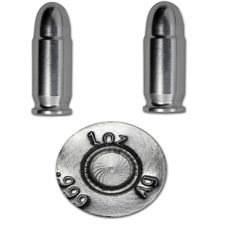 USA - 2 x 1 oz - 45 calibre Colt 999 Silver Bullets