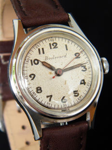 BOULEVARD - AVIA -Men's wristwatch from 1940s - Swiss made.