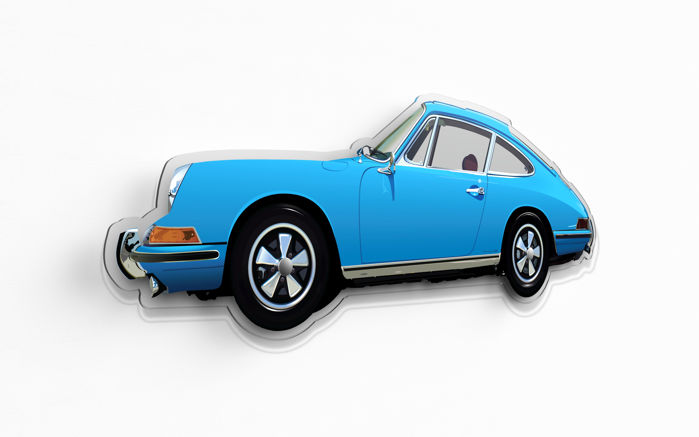 SL - Wall Scale Model Halmo Collection Porsche 911 S