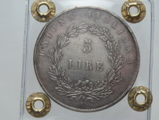 Provisional Government of Venice — 5 Lire, 1848, 1st edition — silver