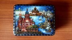 "Russian handcrafted lacquer box ""fedoskino"" MNXEEB"