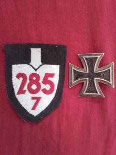 2 Awards 3rd Reich, WW2, Iron Cross 1st Class, Reichsarbeitsdienst (RAD) sleeve badge