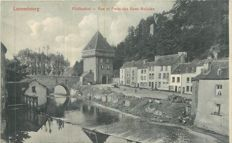 Luxembourg - set of 21 postcards - Belgium Lot of 11 universal exhibition cards of Ghent in 1913 and 3 maps of the exhibition of Liege in 1903 - the total lot includes 35 cards.