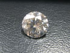 Diamond - 5.46 ct - Briliant - J - I1