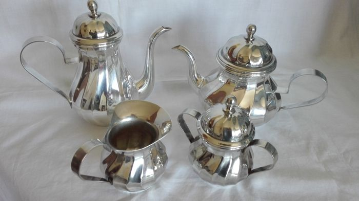 Silver plated breakfast set