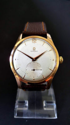 "Omega oversized, 18 karat, ""Jumbo"" calibre 268 – men's watch – around 1961."