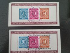 German Reich and Allied Occupation - selection of blocks and stamps with occasion stamps.