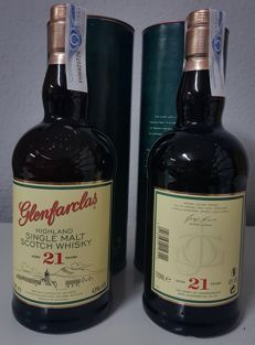 2 bottles - Glenfarclas 21 years old - OB